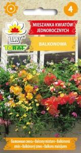 Mieszanka kwiatów jednorocznych - balkonowa