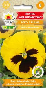 Bratek wielkokwiatowy żółty z plamą