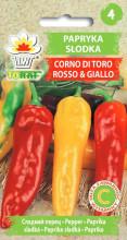 Papryka słodka Corno di Toro Rosso & Giallo